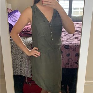Express earth toned tunic dress w/ cinched waist